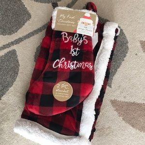 Stocking & blanket set